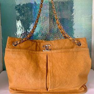 Chanel Timeless Chain Saffron Shoulder Bag